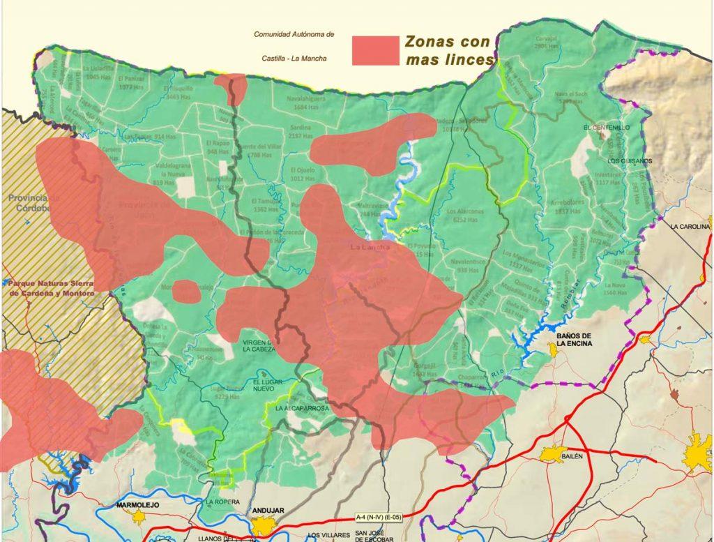 Sierra Andújar mapa-zonas-linces
