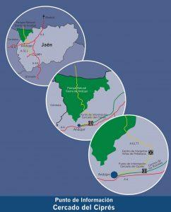 Localización centro de información Cercado del Ciprés