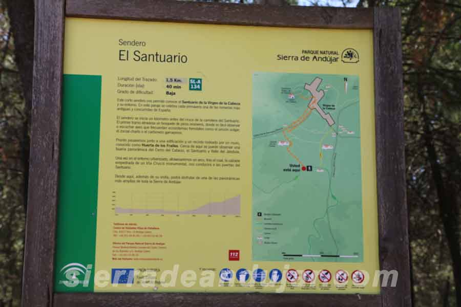 sierra-de-andujar-panel ruta santuario