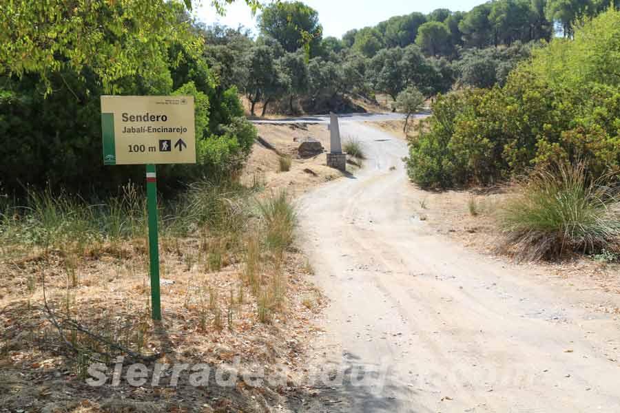 Inicio sendero el Jabalí-Encinarejo en Sierra de Andújar