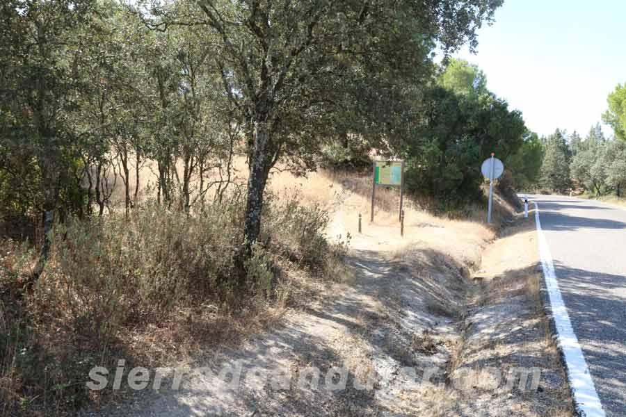 Inicio sendero Sierra de Andújar