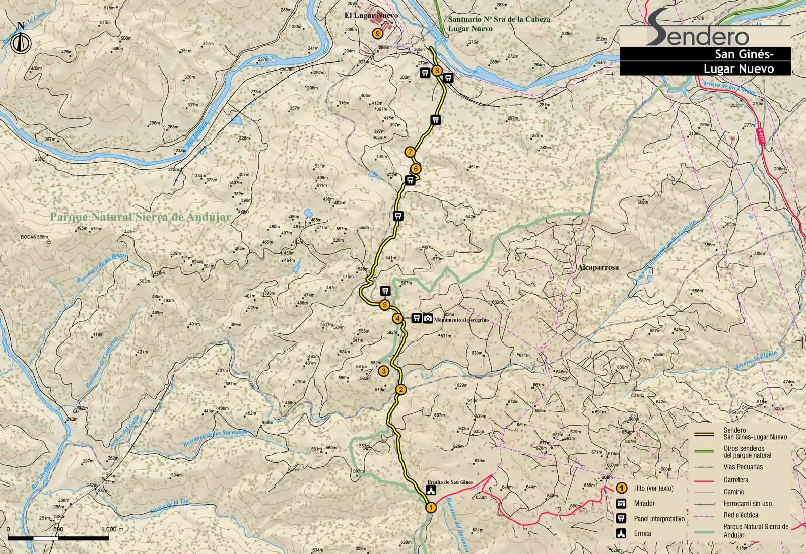 Plano-ruta-San-Ginés-Lugar-Nuevo