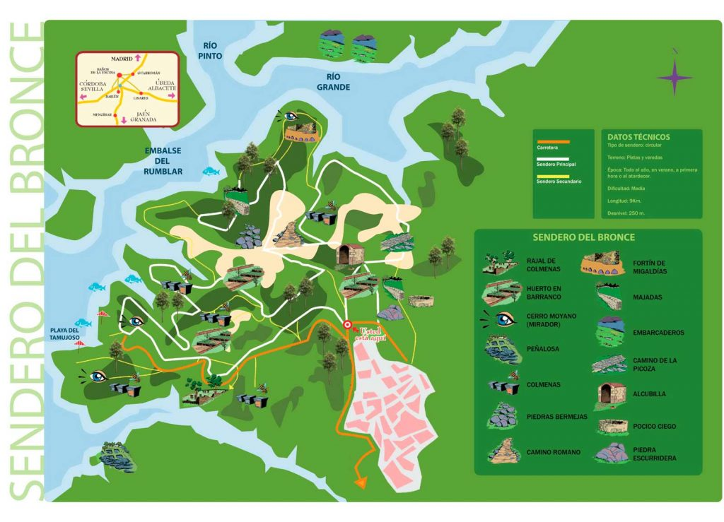 mapa-ruta-Del-Bronce-Sierra-de-Andujar