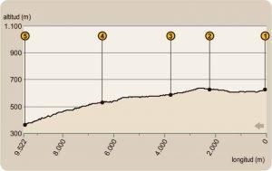 Perfil ruta los Escoriales-sierra-andujar