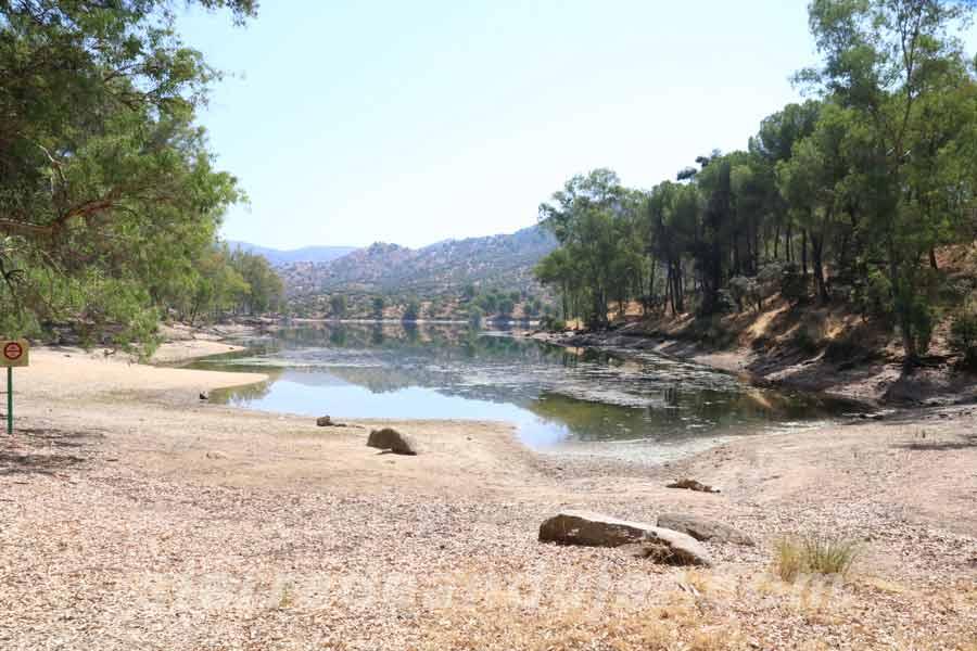 Zona baño pantano Encinarejo sierra-de-andujar