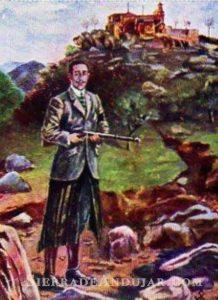Alfonso XIII de cacería en la Sierra de Andújar