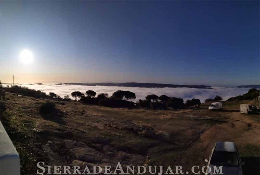 Niebla sobre la Sierra de Andújar