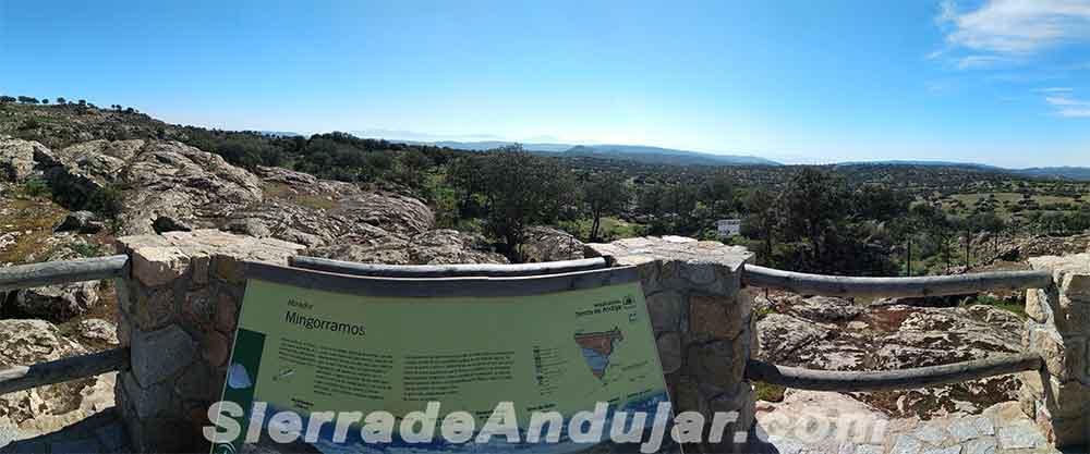 Panorámica mirador Sierra de Andújar Mingorramos