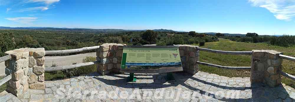 Panoramica mirador Sierra de Andújar Tamujar