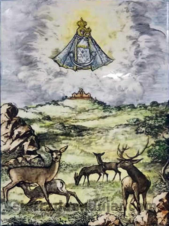 azulejo caza sierra de Andújar Virgen-de-la Cabeza